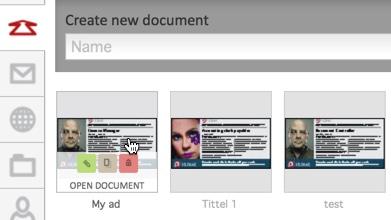 Redigere, slette eller duplisere et dokument