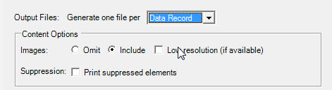 Generete one file per: Data Record