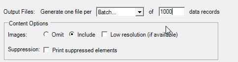 Generete one file per: Batch