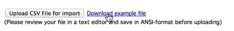 Last ned CSV eksempelfil