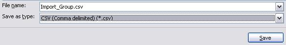 Lag navn på filen og velg CSV