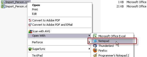 Feilsøking av CSV: Åpne filen i notepad