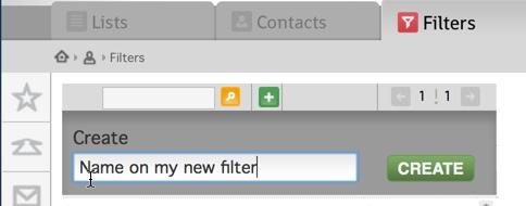 Opprette et nytt filter