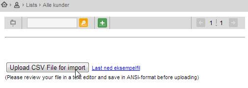 Last opp CSV-fil i isave.DIALOG