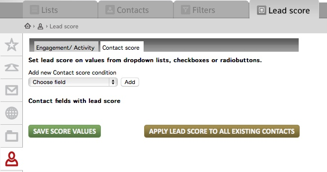 Sett lead score på demografiske felter
