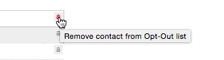 Slette kontakter fra opt-out liste